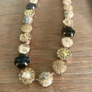 statement necklace with glittering stones